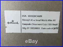 WDCC It's A Small World Rare Hallmark Ornament Set of 3 Walt Disney Classics