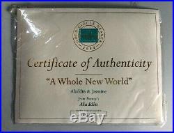 WDCC Jasmine & Aladdin A Whole New World with Box Walt Disney Classic Collection