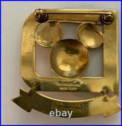 WDP Walt Disney World Cast Member Host Badge Mickey Globe Costume Pin