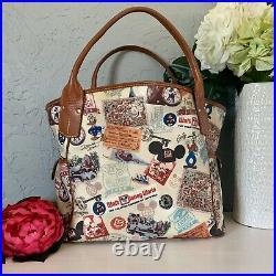 WDW Disney Dooney & Bourke 40th Anniversary XL Kristen shoulder bag purse tote