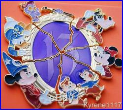 WDW REFLECTIONS OF EVIL 13 PIN BOARD EXC CRACKED MIRROR SHARDS COMPLETE SET of 6