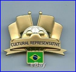WDW Walt Disney World Cultural Representative Brazil Flag Globe Cast Costume Pin