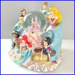 WDW Walt Disney World Disney Princess Snow Globe Dome Music Box Used Japan / 8