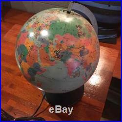 Walt Disney SCAN GLOBE Mickey World Tour Scan Globe AS lamp Japanese Vintage