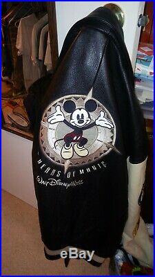 Walt Disney World 100 Years Of Magic Leather Jacket Size XL Men's