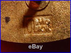 Walt Disney World 1971 Opening Team Mickey Hat Cast Service Award Pin 10k Gold