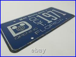 Walt Disney World 1971 Pre Opening BANNED 1ST Preview Center RARE License Plate