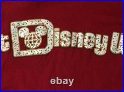Walt Disney World 2019 Christmas Snacks Spirit Jersey Large EUC