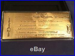 Walt Disney World 35th Anniversay Gold E-Ticket LE