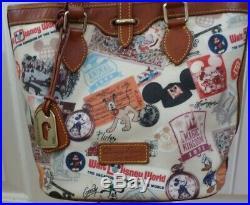 Walt Disney World 4oth ANNIVERSARY Dooney & Bourke Bucket BAG & WALLET Retired