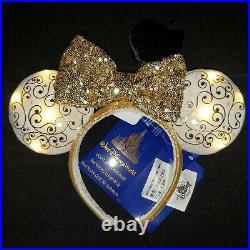 Walt Disney World 50th Anniversary Castle Loungefly Backpack & Light Up Ears WDW