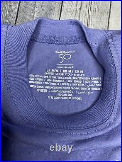 Walt Disney World 50th Anniversary October 1st Glitter Spirit Jersey Size M NEW