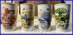 Walt Disney World 50th Anniversary Vault Starbucks Ceramic Tumbler Mug Set NEW