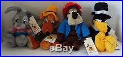 Walt Disney World Bean Bags Song of South Set of 4 Brer Rabbit Fox Bear Vulture