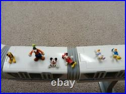 Walt Disney World Blue Stripe Monorail Playset with figures WORKING
