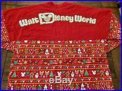 Walt Disney World Christmas Holiday Snacks Spirit Jersey Food Red XXL Plus Big