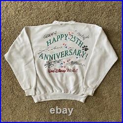 Walt Disney World Crew Neck Sweatshirt 25th Anniversary Autographs Simba Genie