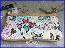 Walt Disney World Dooney And Bouke Disney Sketch Wristlet New