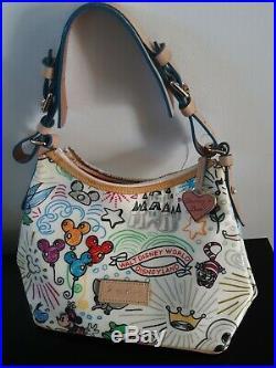 Walt Disney World Dooney And Burke Purse Bag Sketch Shopper Dumbo Cheshire Cat