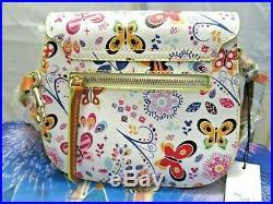 Walt Disney World Dooney & Bourke Flower And Garden Saddle Crossbody Bag, Nwt