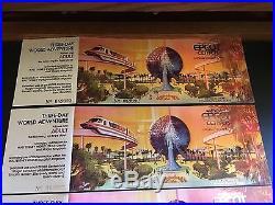 Walt Disney World EPCOT Center UNUSED NEW Special Edition Commemorative Vouchers