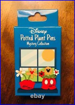 Walt Disney World Epcot 10 Pin Potted Plant Mystery Set Flower Garden Pooh Hunny