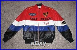 Walt Disney World Epcot Test Track Leather Jacket, Men's Medium