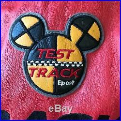 Walt Disney World Epcot Test Track Leather Jacket Size 2XL SUPER RARE