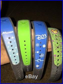 Walt Disney World Four Magic Band Magicband 2 Four Rare Collectors Items D23