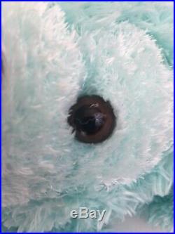 Walt Disney World Hidden Mickey Pre-Duffy Bear 16 Plush Aqua Mint Green Stuffed