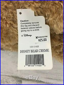 Walt Disney World Hidden Mickey Pre-Duffy Bear 16 Plush Creme Brown Booklet NWT