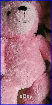 Walt Disney World Hidden Mickey VERY RARE Pre Duffy Pink Plush Bear. Excellent