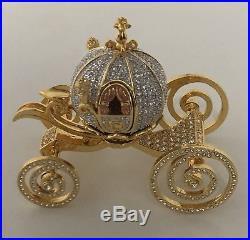 Walt Disney World Jeweled Cinderella Coach Miniature by Arribas 900 Swarovskii