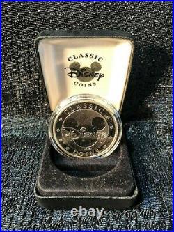 Walt Disney World Mickey Mouse Ceasar Rufo Silver Classic Coin Medallion