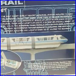 Walt Disney World Monorail Playset Featuring Monorail Orange New