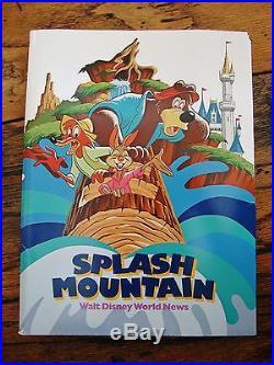 Walt Disney World October 1992 Press Kit SPLASH MOUNTAIN Rare Complete FREE Ship