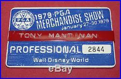 Walt Disney World PGA Tour Golf Tournament Golfer Vtg Country Club Name Tag 1979