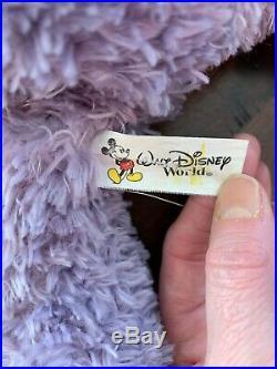 Walt Disney World PRE-DUFFY Hidden Mickey Lavender 17 Plush Bear! RARE! LOOK