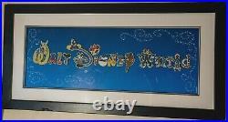 Walt Disney World Park Attractions Character Letter Framed 15 Pin Set (2010)
