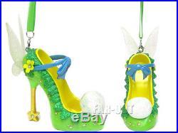 Walt Disney World Parks, Tinkerbell Shoe Ornaments. NWT. Retired