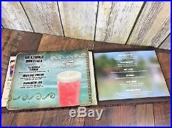 Walt Disney World Polynesian Resort Tambu Lounge Bar Menu Leather Cover