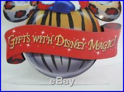 Walt Disney World Prop Display Park Sign Santa Mickey 2 Sided Ornament Christmas