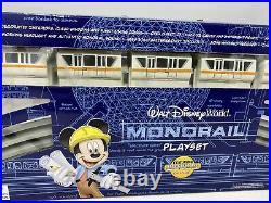 Walt Disney World Resort Orange Stripe Monorail Playset With 6 Mini Characters