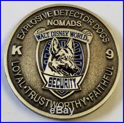 Walt Disney World Security K-9 K9 Canine NOMADS Explosive Detector Dogs 1.5