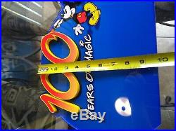Walt Disney World Sign Prop Display 100 Years of Magic Wall Plaque Mickey Mouse