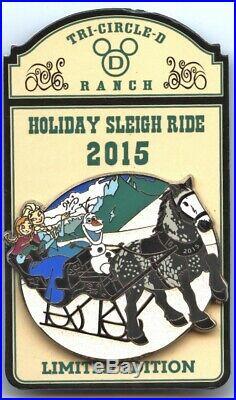 Walt Disney World Tri-Circle D Ranch Holiday Sleigh Ride 2015 Pin (Frozen)