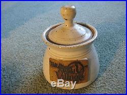 Walt Disney World Village Pottery Stoneware Tea Set signed McDaniel, Handmade