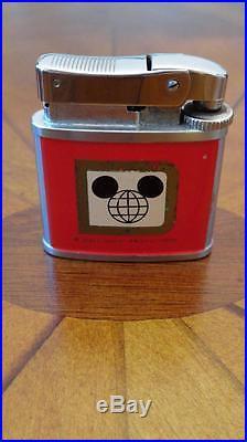 Walt Disney World Vintage Cinderella Castle Mickey Globe Logo Refillable Lighter