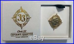 Walt Disney World WDW Club 33 EXCLUSIVE Captain's Quarters Pin RARE