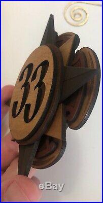 Walt Disney World WDW Club 33 EXCLUSIVE Dave Avanzino Wood 3D Ornament RARE
